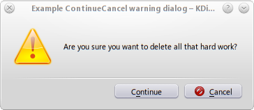 Shell Scripting with KDE Dialogs warningcontinuecancel dlg.png