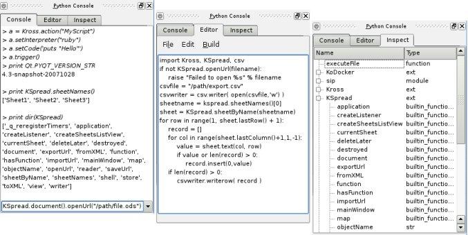 Development/Tutorials/KSpread Scripting - KDE TechBase