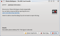 KDE 4.3 Crash Handler Dialog